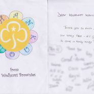 A thank you from the Brownies